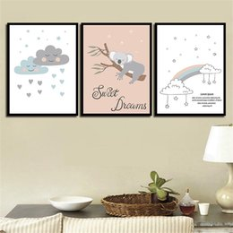 $enCountryForm.capitalKeyWord Australia - Nordic Cuadros Minimalism Poster And HD Prints Cartoon Cloud Animal Decoration Wall Art Canvas Painting Pictures For Living Room