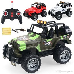 remote police cars Australia - 1PC Cool Remote Control 4CH RC Car Electric Toys Funny kids Toys Party Radio Racing Controlled Cars 4 Channels Vehicle SUV Police Jeep Big