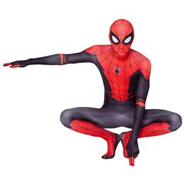 sci fi costumes wholesales Australia - 2019 Halloween Super Hero Spider-Man Costume Slim Uniforms Cosplay Tights Party Clothing for Adult 3pc free shipping