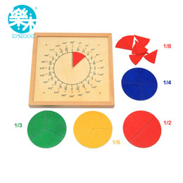 Wholesale Baby Toys Circular Mathematics Fraction Division Teaching Aids Montessori Board Wooden Toys Child Educational Gift Math Toy