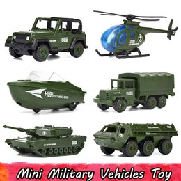 $enCountryForm.capitalKeyWord NZ - 6 Pcs Set Mini Alloy Military Vehicles Model Car Toys for Children Diecast Helicopter Tank Armored Speedboat SUV Car Gifts for Boys