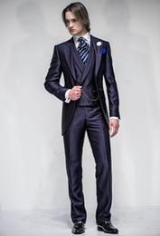 $enCountryForm.capitalKeyWord Australia - wedding groomsmen suits prom dress coat blue tuxedos for weddings groom wear dinner men suit shiny dsy149