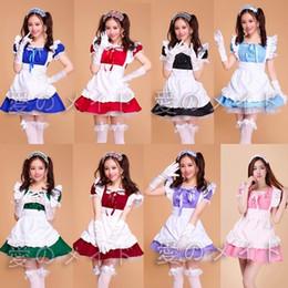 $enCountryForm.capitalKeyWord Australia - Lolita Princess Maid Dress Fancy Apron Dress Maid Outfits Meidofuku Uniform Cosplay Costume S-xxl Mulit Color