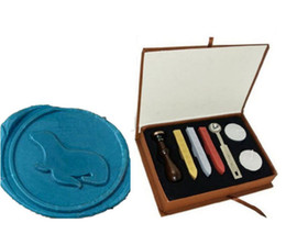 Sea kitS online shopping - Vintage Sea Lion Wax Seal Stamp Gift Box Kit Wedding Invitations