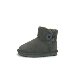 $enCountryForm.capitalKeyWord Australia - Toddler Boys Boots For Sale Designer Australia Shoes Genuine Leather Designer ankle Boots for Boys and Girls Solid Snow Boots for Children