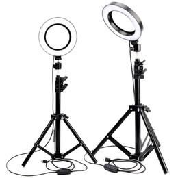 Venta al por mayor de Anillo de luz LED Foto de estudio Cámara de luz Fotografía regulable Luz de video para Youtube Maquillaje Selfie con trípode Soporte para teléfono