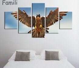 $enCountryForm.capitalKeyWord UK - 5 Pcs set Modern Still Life Unframed HD Print Canvas Painting gulls birds flying flapping Wall Art Picture Bar Cafe Home Decoration