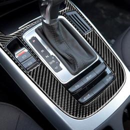 Audi A5 Carbon Fiber Australia - Fashion Design Automotive Styling Carbon Fiber Luxury Durable Decorative Gear Shift Panel Decal Car Sticker for Audi Q5 A5 A4L 2009-2018