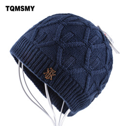 e7934863030c5f Men's winter beanie knitted wool hat men plus velvet caps Thicker mens hats  beanies for women Hip Hop Cap Unisex bone Skullies