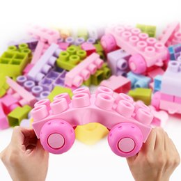 plastic building blocks toys big Australia - 26pcs soft plastic building blocks assemble building block set baby teether toy big blocks for baby