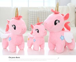 unicorn doll toy UK - 12cm Cute Unicorn Plush Toy Stuffed Unicornio Animal Dolls Soft Cartoon Toys for Children Girl Kids Birthday Gift
