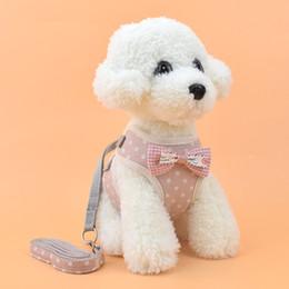 $enCountryForm.capitalKeyWord Australia - The New Dog vest clothes Leash fashion lattice Hyena rope Small dog Leash Pet supplies Factory direct sales