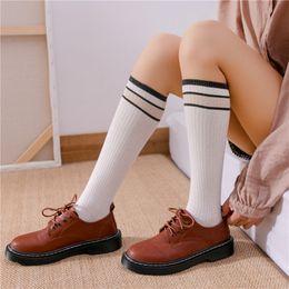 $enCountryForm.capitalKeyWord Australia - 20190414 Women's Leisure Stripe High-legged Socks College Wind Knitted Cotton Socks Women's Style