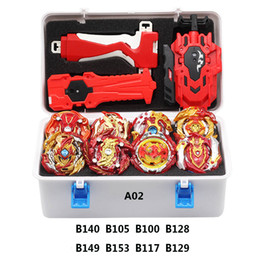 Venta al por mayor de Bayblade Arena Stadium Set Beyblade Launcher Toys Toupie Metal Fusion Fusion DIOS BRISTAL BEYBLADS TOP BEY BAY BAY BAJAS Y200703