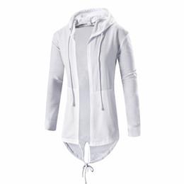 53fbbee6aefa Mens Hooded Hoodie Sweatshirts Fashion Hip Hop Mantle Hoodies Jacket Long  Sleeve Cloak Male Coat Outwear Moleton Masculino