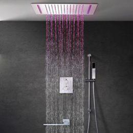 $enCountryForm.capitalKeyWord Australia - Contemporary 360*500 Rain Shower Head Remote Control Color Change LED Bathroom 3 Way Thermostatic Conceal Ceiling Shower Set L-503X36P