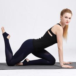 Tight White Yoga Pants Australia - 2017 Autumn Compression Yoga Pants High Waist Tight Mesh Stirrup Leggings Breathable Fitness Running Slim Stretch Sport Leggings