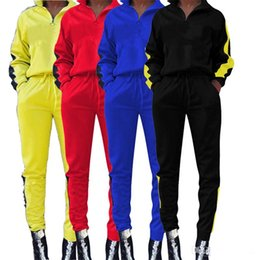 a589e8be3ace5 Brand Designer CHAMP Women Tracksuit Pullover Long Sleeve 2 piece Zipper  Hoodie Tights Leggings Sweatshirt Sportswear Pants Outfits Sports