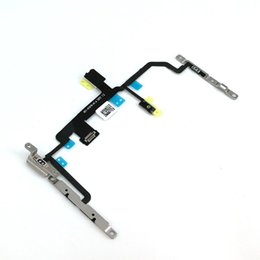 cable install UK - 10psc for IPhone 8 8 Plus power Volume Button Silent Switch Flex Cable with Metal Bracket Installed Replacement