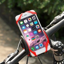 Gym Cell Phone Holder Australia - Universal Bike Bicycle Motorcycle Handlebar Mount Holder Mobile Cell Phone Holder With Silicone Support For Iphone7s Smartphone