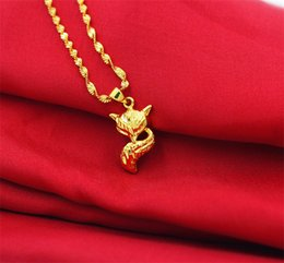 indian gold coins Australia - Foreign trade new euro coins gold jewelry exquisite animal shape pendant necklace Vietnam long time not fade sand gold jewelry wholesale