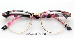 nerd glasses Australia - Wholesale-2015 New Retro Tide joker Men Women glasses unisex Clear Lens Nerd Frames Glasses Fashion brand design Vintage Half Metal glass