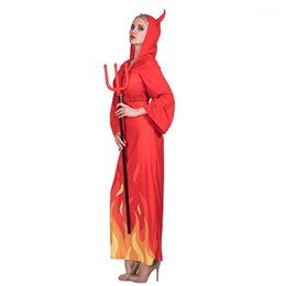devil halloween costumes women Canada - Halloween and Fancy Dress Party Dress With Horns Theme Costume Designer Flame Lady Devils Cosplay Clothes