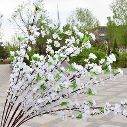 Red Yellow Party Decorations Australia - 150pcs Artificial Cherry Spring Plum Peach Blossom Branch Silk Flower Tree For Wedding Party Decoration white red yellow pink 5 colors