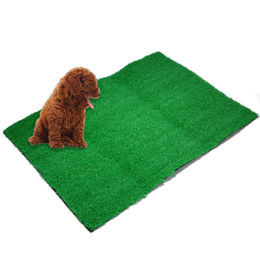 $enCountryForm.capitalKeyWord Australia - 1PC Pet Puppy Potty Trainer Indoor Training Toilet Dog Artificial Turf Grass Pad Pee Mat Patch For Medium Large Sized Dog