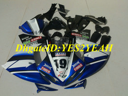 $enCountryForm.capitalKeyWord Canada - Injection mold Fairing kit for YAMAHA YZFR1 09 10 11 12 YZF R1 2009 2012 YZF1000 Whtie blue black Fairings set+Gifts YG09