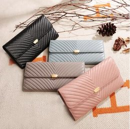 Cowhide ClutCh phone online shopping - new Designer Women Clutch Fashion Wallets Cowhide Leather Female Long Wallet Women Purse Coin Purse