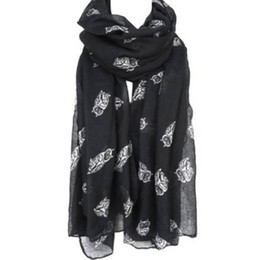 Lovely Scarves Wholesale Australia - Women Cute Owl Print Scarf Long Wraps Soft Voile Shawl Ladies Lovely Scarves High Quality Large Size Wrap 190*80cm #L