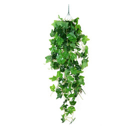 $enCountryForm.capitalKeyWord UK - Simulation Plants Silk Green Leaves Rattan Decorative Garland Festival Home Ornament Melon Leaves