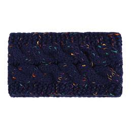 China Hair Band Winter Warmer Ear Knitted Headband Turban For Women Crochet Bow Wide Stretch Hairband Headwrap Hair Accessories #YL cheap winter accessories for women suppliers