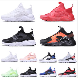 womens low socks Canada - 2020 New Hot Huarache 4.0 Classical Triple White Black red mens shoes womens sports Running Shoes Designer Sneaker luxury trainers sock shoe