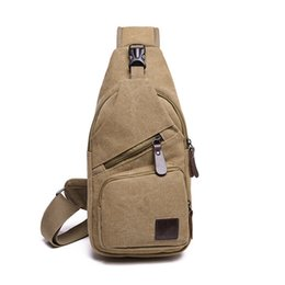 small canvas crossbody bag UK - Anti Theft Chest Bag For Men's Small Canvas Crossbody Bags Male Fashion Casual Shoulder Messenger Sling Bags For Phone