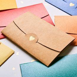 $enCountryForm.capitalKeyWord Australia - Coloffice 10PCs Set Mini Colored Heart Pearl Paper Envelopes Western-Style Small Envelope Stationery School Office Supplies