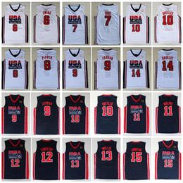 Wholesale 1992 Team  Jerseys Dream Larry Bird Michael Patrick Ewing Scottie Pippen Clyde Drexler John Stockton Charles Barkley Johnson