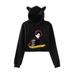 plus size clothing for sale UK - 2019 southside new prints Hot Sale Cat Hoodies for Women summer clothes Sexy casual cat-ear hooded Harajuku plus Size