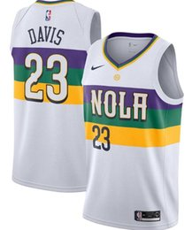 b682546b0ed 18-19 Season New Orleans Men Pelicans Jersey Anthony Davis New City White  JEdition ersey Free shipping