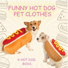 Wholesale Sales Wholesales Hot Dog Pet Dog Costume Mustard Cat Clothes Outfit For Small Medium Dog