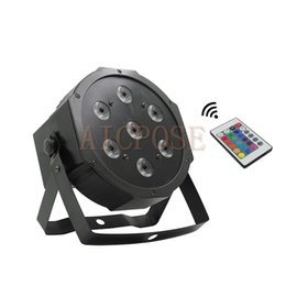 $enCountryForm.capitalKeyWord UK - 7x12w Remote Par lights Small Lens 7*12w RGBW 4 in 1 Fat Par Led With DMX512 Disco Lights Professional Stage Light