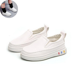 China Sneakers Child 2019 New Spring Kids Boys Girls Casual Skate Shoes PU Breathable Sport Shoes Girl Fashion Flat Sneakers #27 suppliers