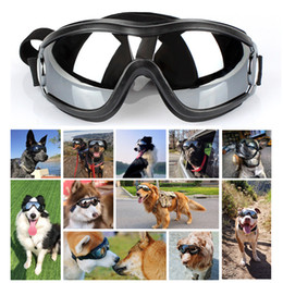 anti fog for ski goggles Canada - Dog Goggles Adjustable Strap for Travel Skiing and Anti-Fog Dog Snow Pet Protective Glasses Eyewear for Medium to Large Dog