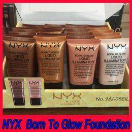 $enCountryForm.capitalKeyWord Australia - .NYX Brand Face Concealer Foundation Liquid Makeup Born To Glow Liquid Illuminator BB Cream Make Up Cosmetics Skin Care Dropshipping