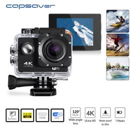Camera Dvr Wifi Australia - capsaver 4K HD 1080P Video Camera Sport DV WIFI Waterproof DVR Camcorder Remote Control Cam DV Wide Angle Video Action Recoder