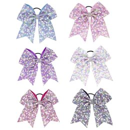 dfdef6e6fa31 HOT SALE Kids Hair Accessories Handmade Sequin Cheer Bows Hair Ties  Children Rhinestone Girls Ponytail Holder Elastic Hair Bands 15pcs