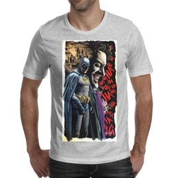 Sports T Shirts Design For Men NZ - Batman and joker poster illustration black Man's T-Shirts Designed Sports Cotton Short Sleeve Shirts Best Man T Shirt Casual T Shirts for M