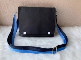 Luxury designer briefcase online shopping - Luxury Designer Men Cross Body Genuine Leather Handbag Man Briefcase Laptop Shoulder Bag Messenger Bag