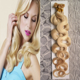 "Hair Body Wave Machine Made Australia - Brazilian Body Wave Hair 16""-24"" 100% Machine Made Remy Human Hair Extensions Capsule Keratin Nail U Tip Hair Fusion 70g 80g 90g 100S Pack"